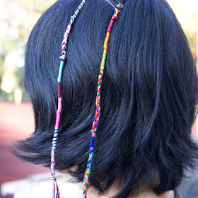 DIY Clip In Hair Wrap Extensions- fun Craft for kids to make for themselves or other friends