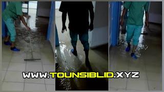 (بالفيديو و الصور) فضيحة بمستشفى شارنيكول دخول الامطار دخل لبلوك و غرف المرضى بكميات كبيرة....