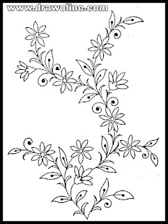 simple flower designs for pencil drawing step by step/Easy Flower sketch on paper