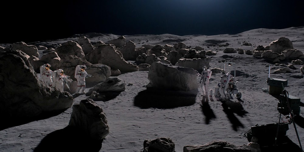 US space marines confronting soviet cosmonauts on the Moon in season 2 of 'For All Mankind'