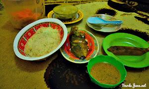 menu makanan open trip pulau harapan