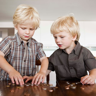 sorting coins is the first step in counting money