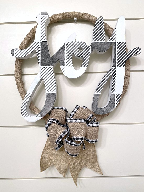 DIY Holiday Wreath Made from Repurposed Parts