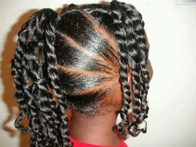 Twisted Cornrows Black Girls Hairstyles for School