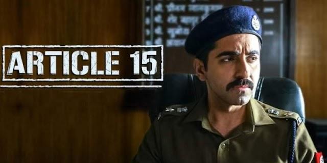 ब्राह्मण समाज संघटनेला (BSOI) दणका देत आर्टिकल 15 या चित्रपटाला सर्वोच्च न्यायालयाने दिलासा दिला आहे