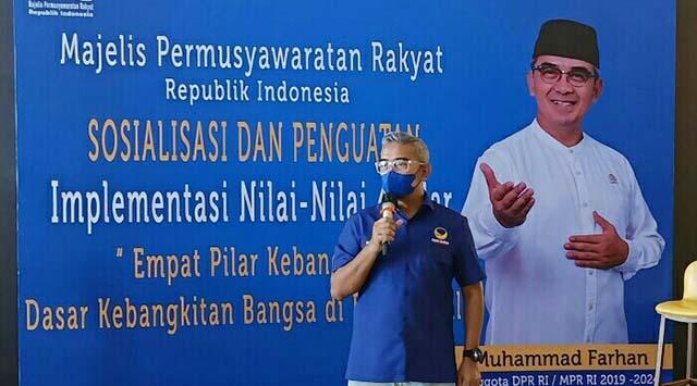 Sosialisasi Empat Pilar, HM Farhan Soroti Rencana Pendidikan Tatap Muka