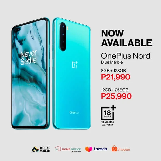 OnePlus Nord 12GB + 256GB Variant Now Available; Yours for Only Php25,990