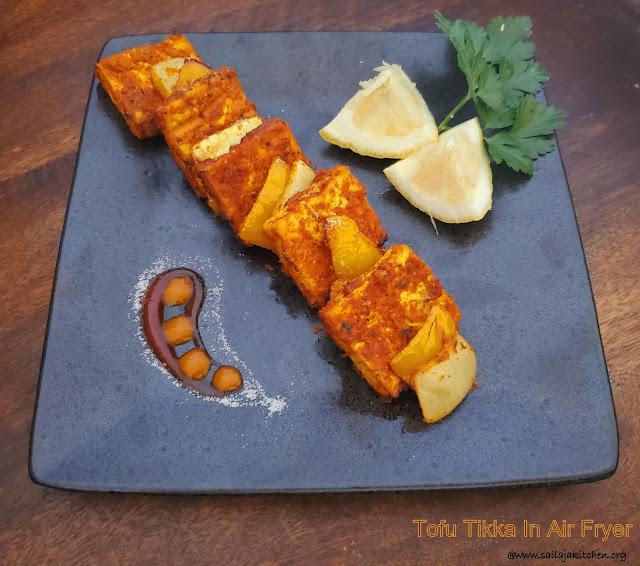 images of Tofu Tikka  In Air Fryer / Tandoori Tikka / Air Fryer Tofu Tikka
