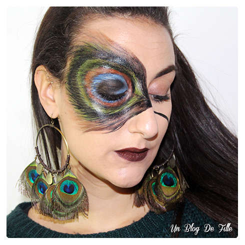 http://unblogdefille.blogspot.fr/2017/01/maquillage-artistique-paon-peacock.html
