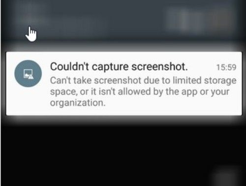 Tidak Dapat Mengambil Screen Shoot Alasannya Yaitu Ruang Penyimpanan Terbatas Atau Apl Tidak Mengizinkan.