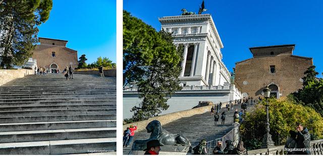 Escadaria da Basílica de Santa Maria in Aracoeli, Roma