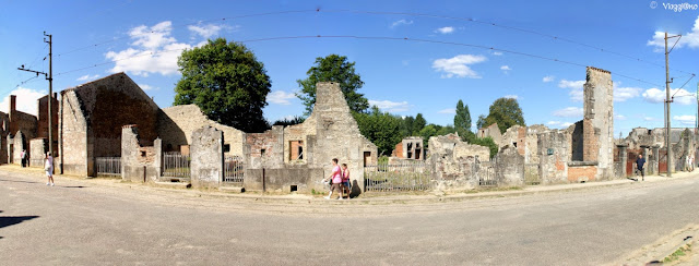 Vista panoramica del villaggio martire di Oradour-sur-Glane
