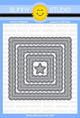 Sunny Studio Stamps: Introducing Fancy Frames Stitched Square Die Set