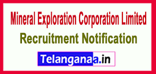 Mineral Exploration Corporationy Limited MECLRecruitment Notification 2017 Last Date 17-06-2017