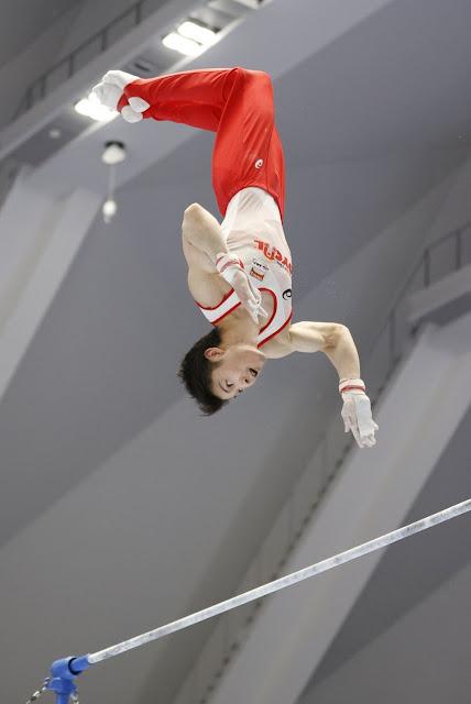Ginasta Kohei Uchimura do Japão