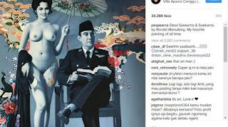 Pevita Pearce Menulis Lukisan Soekarno Tanpa Busana