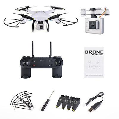 Review Drone SG600 Serba Otomatis Mirip Dji Pahntom