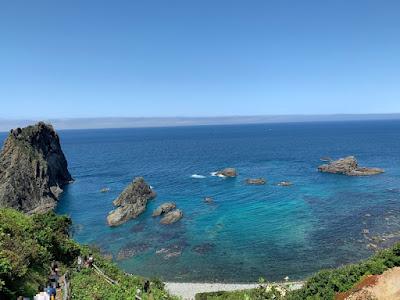 展望台から見た島武意海岸