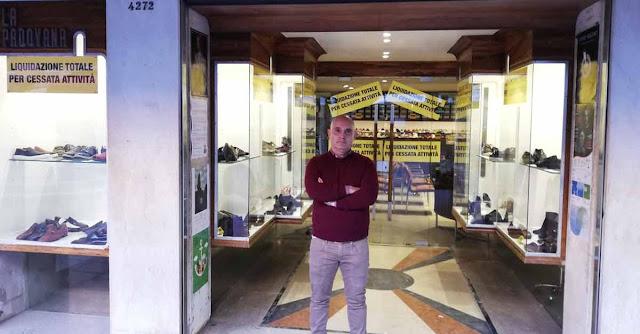 Fabio Calza, titolare de La Padovana calzature a Venezia
