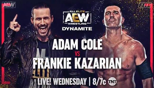 Adam Cole fará sua estreia no próximo AEW Dynamite