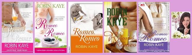 Portadas de la novela romántica contemporánea Romeo, Romeo, de Robin Kaye
