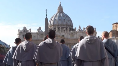 Image result for Photo of Franciscans  of the Immaculate  with Pope Francis and Fr.Bruno