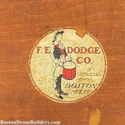 F. E. Dodge Drum Label