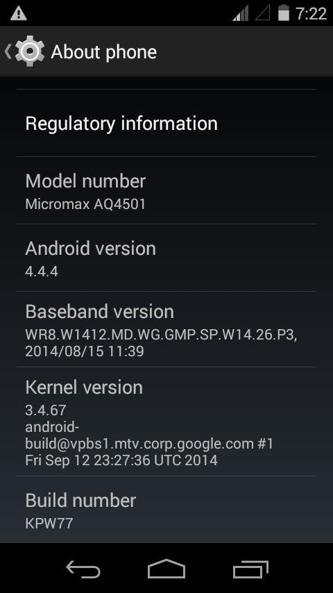 MA TELECOM ANDROID OFFICIAL FIRMWARE: MICROMAX AQ4501 MT6582 V1 0