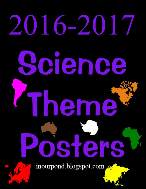 FREE Science Theme Posters for Weekly Units from In Our Pond