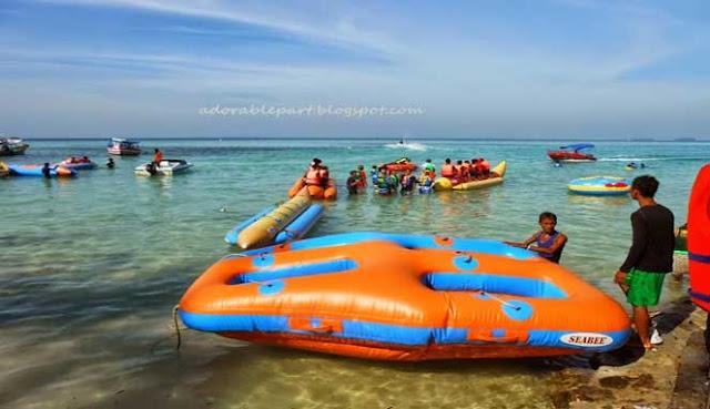 Olahraga Air di Pantai Pangandaran