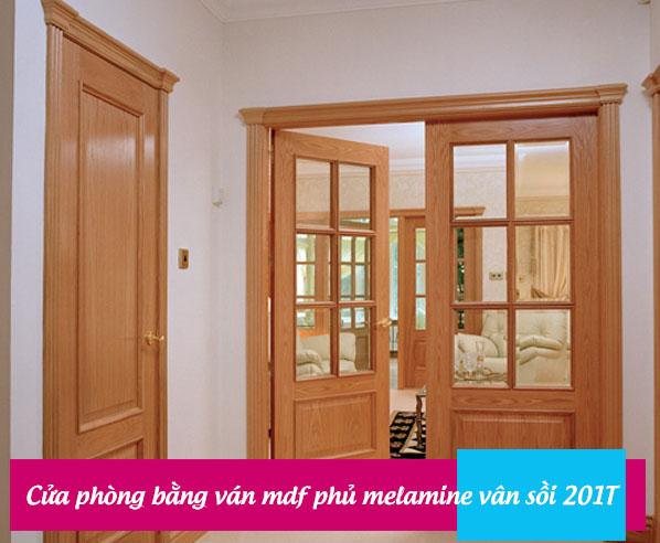 Cửa phòng bằng ván mdf melamine vân gỗ sồi
