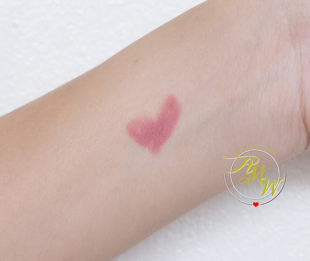 a swatch photo of Make Up For Ever's Artist Lip Blush Review in shade 100 by Nikki Tiu of askmewhats.com