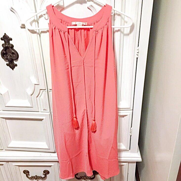 c&e coral dress