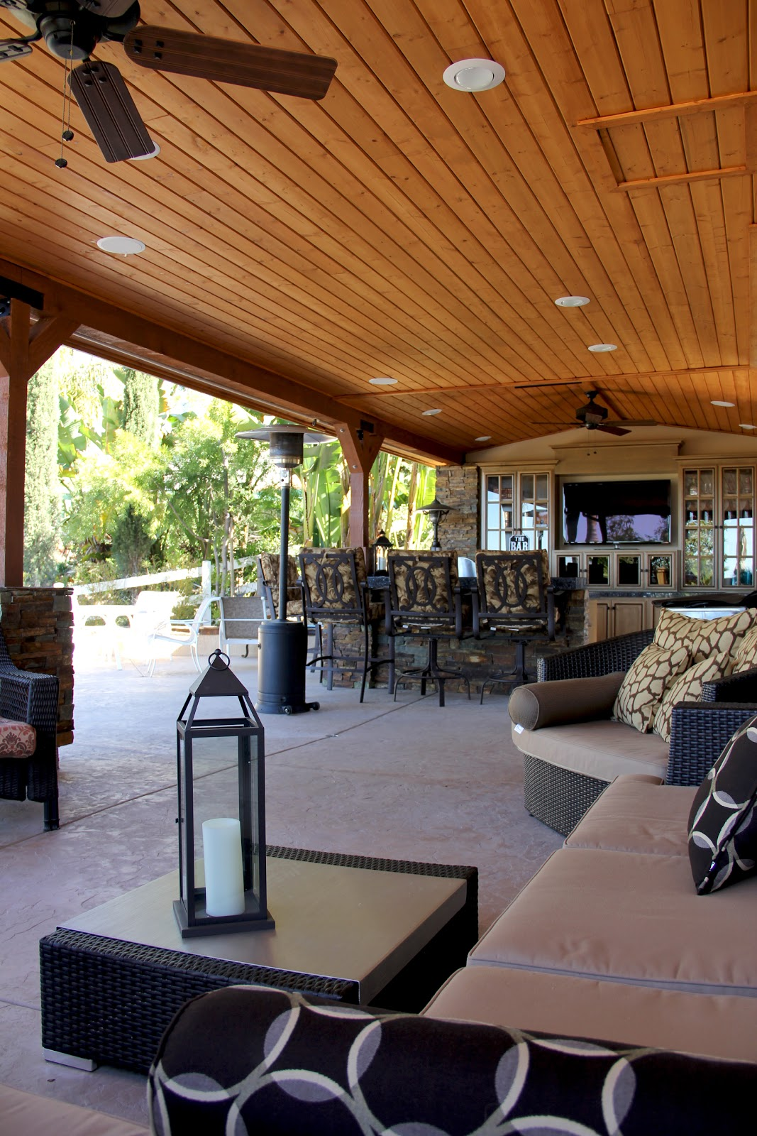 Custom Outdoor Design: Outdoor Kitchen, Living Room, And