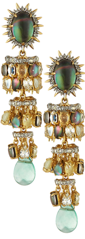 Alexis Bittar Tiered Starburst Chandelier Earrings