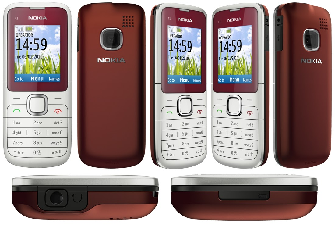 nokia c1 01 gsm unlocked dual band cell phone free [ 1100 x 738 Pixel ]