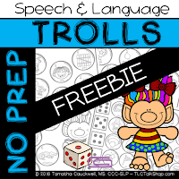 https://www.teacherspayteachers.com/Product/FREEBIE-Trolls-No-Prep-Speech-and-Language-2852622