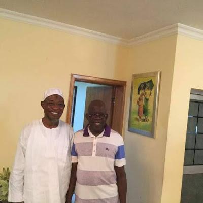 Bola Tinubu All Smiles As He Hosts Governor Aregbesola At His Ikoyi Residence