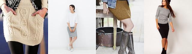 как одеваться зимой стильно и тепло утепленная юбка