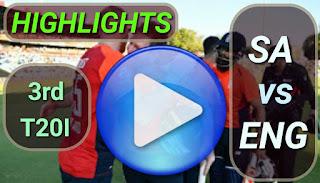 SA vs ENG 3rd T20I 2020
