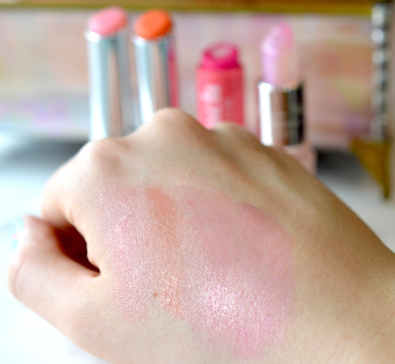 Glossy Pink Lip Balms