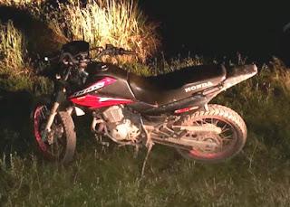 Motocicleta roubada em Barra da Estiva