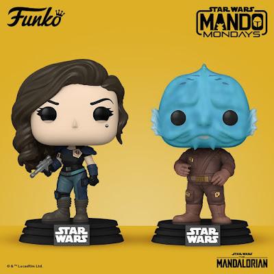The Mandalorian Cara Dune & Mythrol Pop! Star Wars Vinyl Figures by Funko