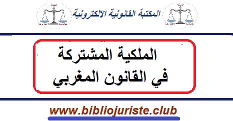 الملكية المشتركة في القانون المغربي