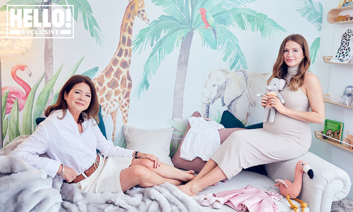 Pregnant Millie Mackintosh showcases adorable animal themed baby nursery for Hello!