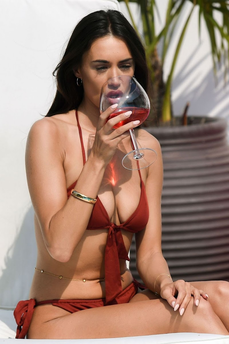 Clelia Theodorou Clicked in Bikini on the Set of TOWIE in Essex 10 Aug -2020
