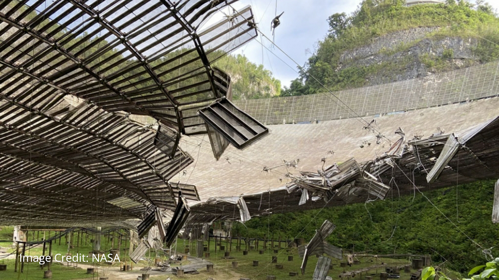 Arecibo observatory damaged by broken cable