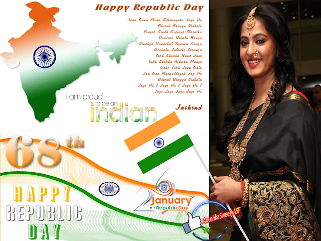 Republic day wallpaper of Anushka Shetty