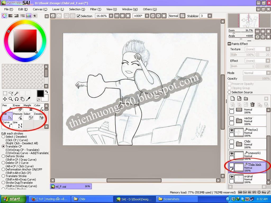 Hướng dẫn vẽ Chibi bằng phần mềm Paint tool SAI