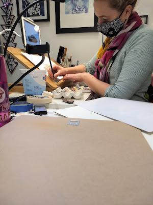 tour through artist studio to see process